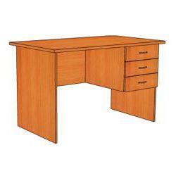 Стол письменный с 3 ящ. (правый) СФ225